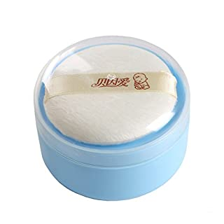 Topwon 3.5'' Baby After-Bath Powder Puff Kit Container Dispensor Case with Sifter (1 Packed)