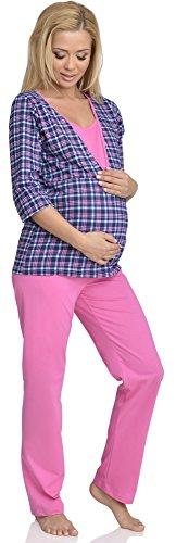 Be Mammy Mujer Lactancia Pijamas Dos Piezas Sandra Rosa-1
