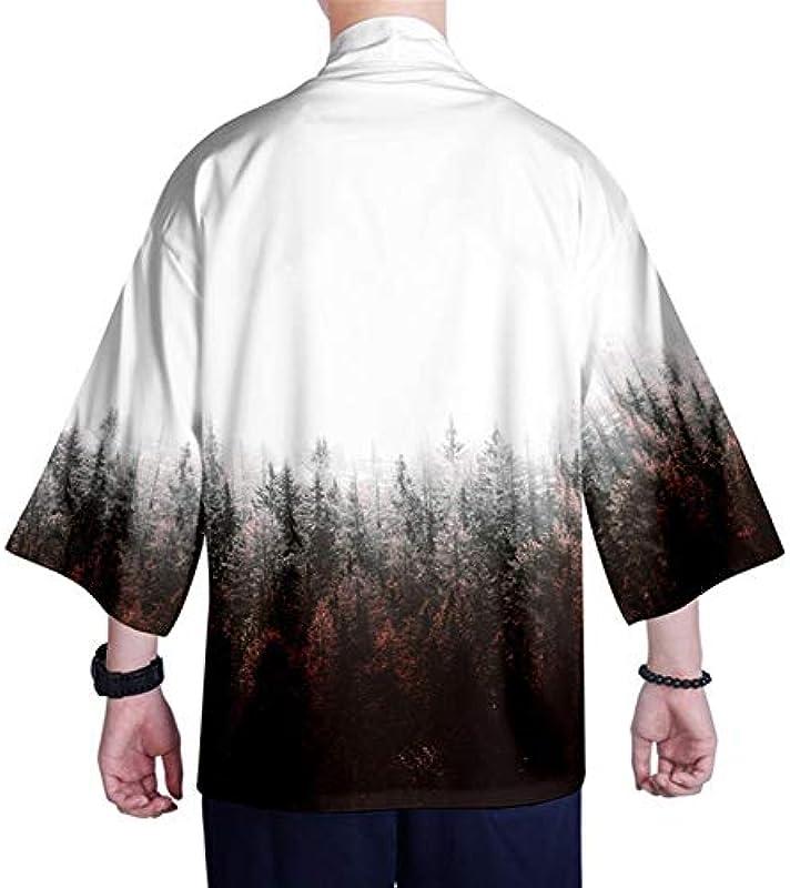 Japońska kurtka kimono z dzianiny koszula XXS-4XL męska kimono kardigan, top Yukata, kostium samurajski (kolor : styl 15, rozmiar: 4XL): Küche & Haushalt