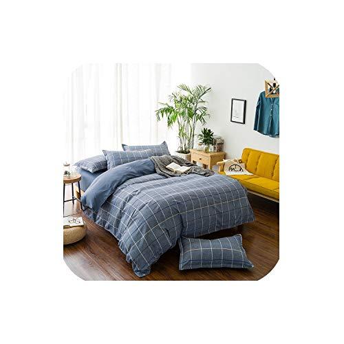 LOVE-JING Bed Linen Bedding Set Home Textiles 3/4Pcs Family Set Include Bed Sheet&Duvet; Cover&Pillowcases; Full Queen King Size,25,Twin 4Pcs Big Sheet,(Flat Bed Sheet) (Lego Queen Sheet Set)