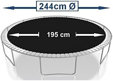 Federn 17,8 cm Sprungtuch Sprungmatte Ersatzteile f/ür Trampolin /Ø 244 cm 48 /Ösen