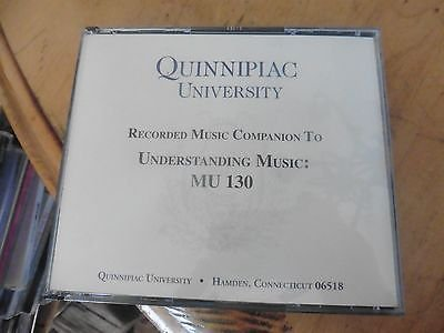 Quinnipiac University 4 CDs Recorded Companion to Understanding Music MU 130