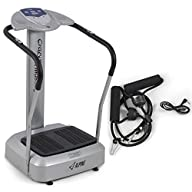 APLINE© 2000W Crazy Fitness Machine Vibration Body Massage Platform Stand Exercise,…
