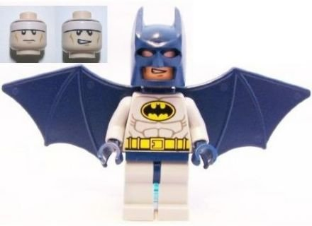 Batman - Lego Batman Minifigure (Blue Suit) with Glider Wings and Turbo Jet Backpack Assembly (Loose)