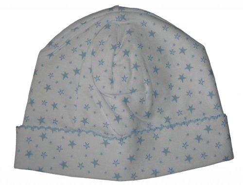 (Kissy Kissy Baby-Boy Infants Hearts and Stars Print Hat-Blue-Small)