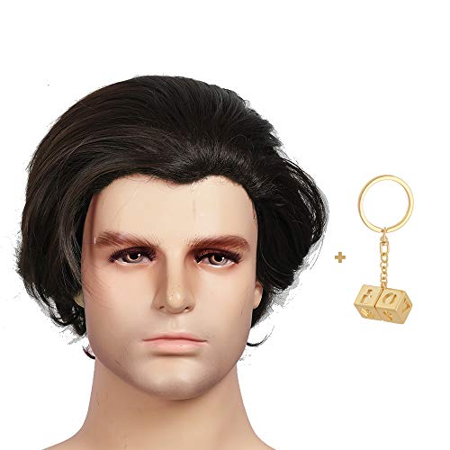 Han Solo Wig (Han Solo Wig Brown Wig SW Cosplay Costume Props Accessories Props Curly 10