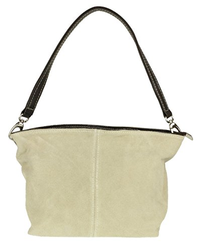 Leather Tote London Suede Genuine Bag Beige Shoulder Handbag Craze Womens New C6XqxzqSw