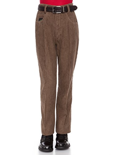 RGM Boys Corduroy Pants - Modern Fit, Jeans Style Cords Brown 8