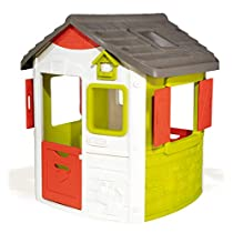 Smoby- Casita Infantil Personalizable Jura Lodge II (810500) Casa, Color Verde