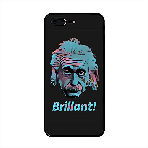 iPhone 8/7 Plus Case, Anti Drop and Dust Hard Plastic Case Cover for iPhone 8/7 Plus(5.5inch) - (Albert Einstein, Brilliant!)