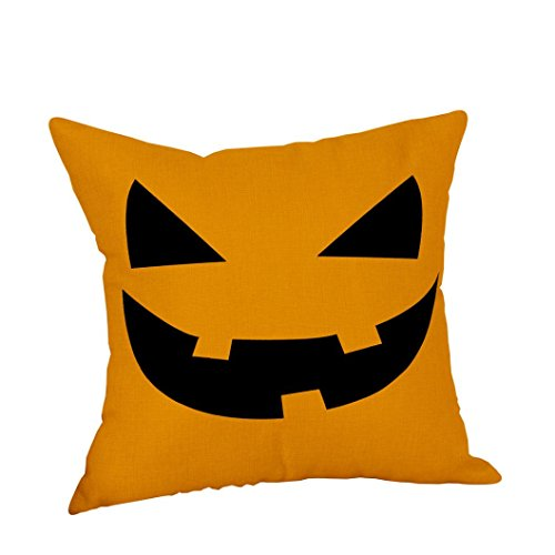 YOcheerful Halloween Pumpkin Witch Pillow Cover Cushion Sofa Bed Decor (D,45cm45cm)