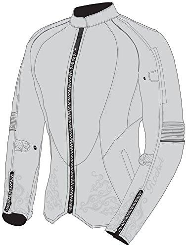 Joe Rocket Heartbreaker 3.0 Women's Textile Motorcycle Jacket (Grey/Silver, Medium)