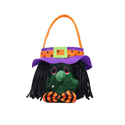 ATOLY Hat Witch Halloween Bag Basket Trick Or
