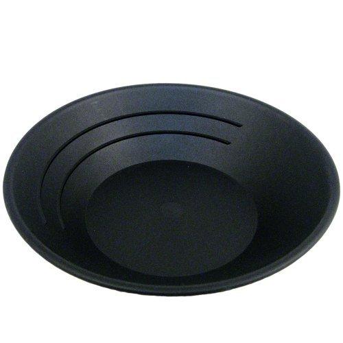 SE GP1001BL 10-Inch Plastic Gold Mining Pan Black (4-pack) ()