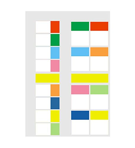 Chris-Wang 360pcs Ultra Smooth Stick-on Neon Flags, Repositionable Index Tabs, Self-Stick Sticky Notes for Page Marker Divider, Easy to Write on/Remove, 21x14.2cm