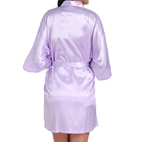 Fangcheng Da Accappatoio Camicia Damigella Abbigliamento Abiti Sposa D'onore Chiaro Notte Viola Abito Casa OROrq