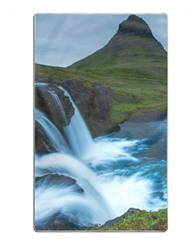 Beach Towel-Iceland Waterfall Hills River Towel,Fast Drying and Lightweight Microfiber