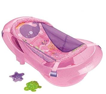 Fisher Price Ocean Wonders Pink Sparkles Baby Toddler Girls Bath Tub Accessories