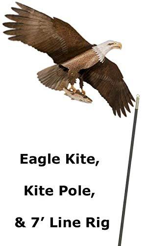 BestNest Bald Eagle Kite & Green Fiberglass Telescoping Pole (Eagle Windsock)