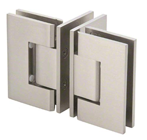 CRL GENT90BN Brushed Nickel 'T' Configuration Geneva Glass-to-Glass Hinge