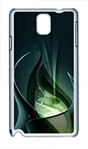 3D Green Consciousness And Beautiful Abstract Polycarbonate Hard Case Cover for Samsung Galaxy Note III/ Note 3 / N9000 White