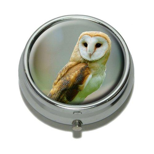 Barn Owl Bird Pill Trinket