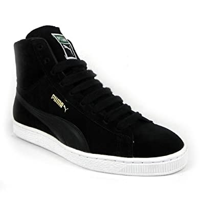 black and white puma high tops