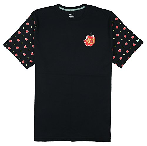 Cork Cotton T-shirt - Nike Men's KD Bad Apple T-Shirt XX-Large Black Red Green