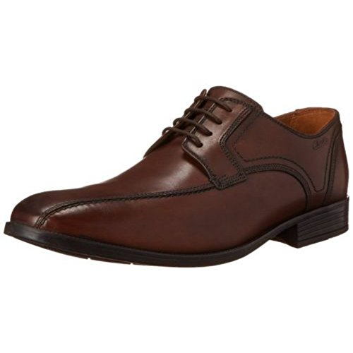 (Clarks Men's Kalden Vibe Oxford, Brown, 10 M US)