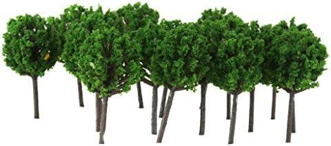 1/300サイズ 鉄道模型用 樹木 (グリーン) 50本