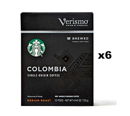 Starbucks Colombia Brewed Coffee Verismo Pods (72 Count)