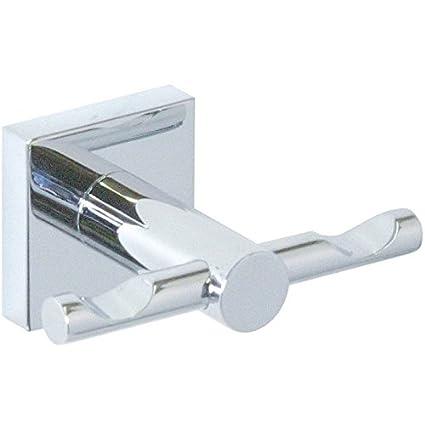 BR Quaruna - Colgador de pared para toallas de baño, doble gancho