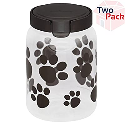 Airtight Food Storage Paw Print Pet Treat Canister from Snapware