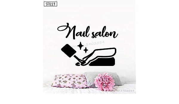 yaoxingfu Tatuajes de Pared Niñas Nail Salon Poster Vinilo ...