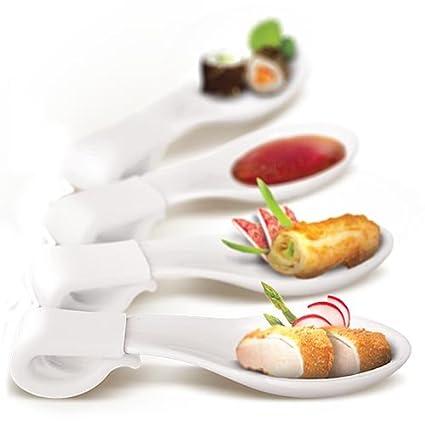 AdHoc para salsas y aperitivos cuchara SNAP blanco para aperitivos amuse