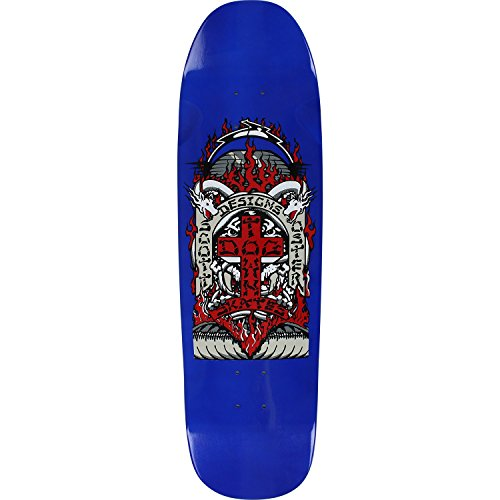 Dogtown Oster Pool Skateboard Deck -8.87x33 Blue DECK ONLY - (Bundled with FREE 1'' Hardware Set)