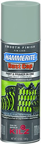 Hammerite Aerosol (Hammerite Rust Cap Smooth Enamel Finish, 12 oz Aerosol Can, 18 sq-ft/gal, Gray)