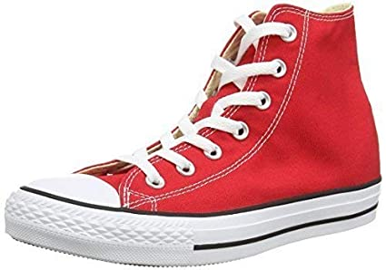 df16bfcd4a8f Converse All Star Hi-Top Red Fashion Shoes Canvas Men/Women (12.0 Men/ 14.0  Women)
