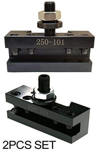 6-12'' AXA Quick Change CNC Tool Post Turning Facing Holder 1# 250-101 and Boring Turning Holder 250-102#2 Set by LLDSIMEX