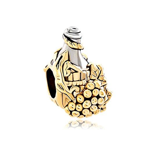 CharmsStory Golden Bottle Charms Bracelets