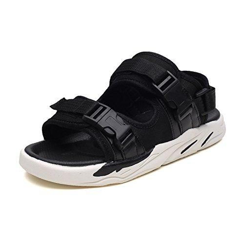 Traspiranti Moda Black Scarpe Sandali Comode Uomini Antiscivolo da Adolescenti Pantofole Spiaggia a64wqO