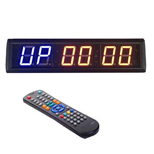 """BTBSign Chronomètre d'horloge à compte à rebours et minuterie d'intervalle programmable à DEL de 2,3"""""""
