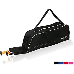 Athletico Baseball Tote Bag - Tote Bag for Baseball, T-Ball & Softball Equipment & Gear for Kids, Youth, and Adults | Holds Bat, Helmet, Glove, & Shoes | Fence Hook (Black)