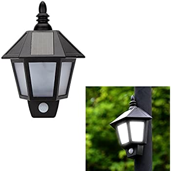 2 Pack Easternstar LED Solar Wall Light Outdoor Solar Wall Sconces Vintage  Solar Motion Sensor Lights Security Wall Lights For Outside Wall,Deck,Porch  ...