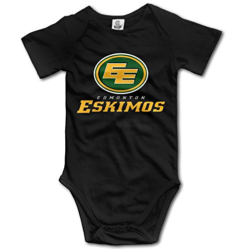 Black Baby's CFL Edmonton Eskimos Logo Sleeveless Romper Jumpsuit (Eskimo Outfit)