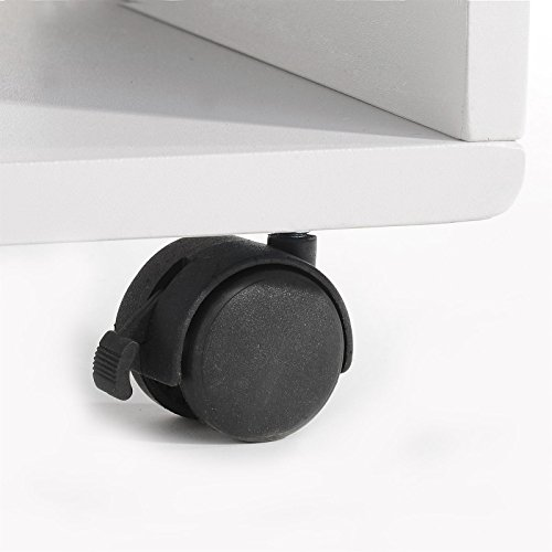 meuble tv tagre sur roulettes atlanta mdf laqu blanc noir amazonfr cuisine maison - Meuble Tv A Roulettes Noir