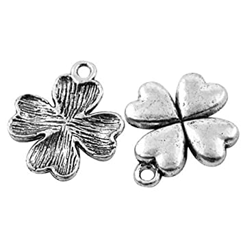 Leaf Charm//Pendant Tibetan Antique Silver 21mm  10 Charms Accessory Jewellery