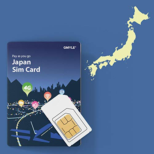 GMYLE 4G Travel SIM for Japan, 4 GB Data for 8 Days, Freely Add The Number of Days You Need.