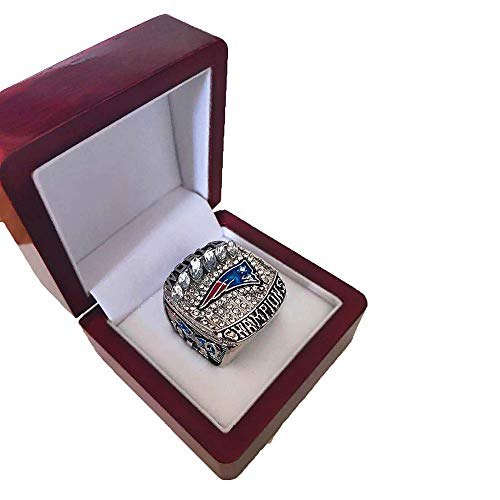 Gloral HIF Mens 2018-2019 New England Patriots Championship Rings Super Bowl LIII Replica Rings Size 9 with Display Box