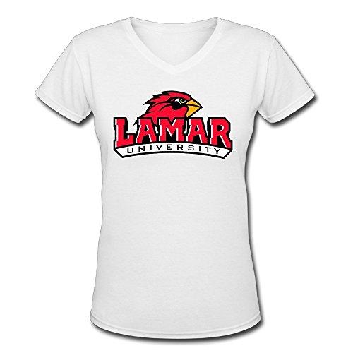 Lamar University Cardinals V-t Shirt Cool Shirts T-shirtsFemale 100% Cotton
